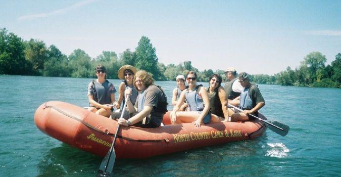 Teen rafting trip